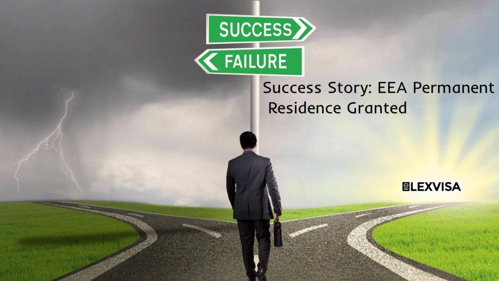 EEA Permanent Residence Success Story LEXVISA Immigration Lawyers London
