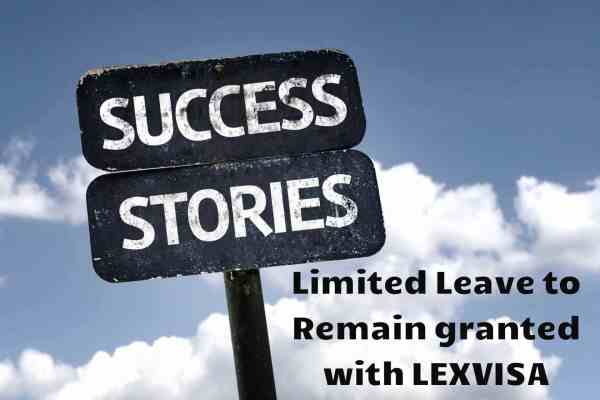 Limited Leave to Remain Success Story