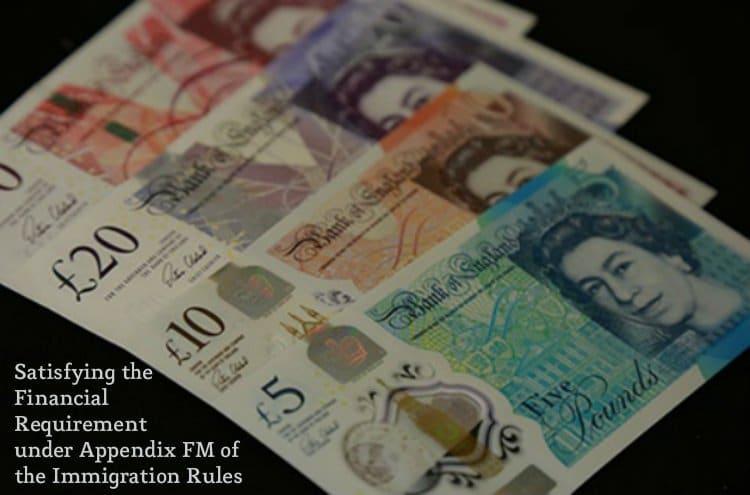 Financial Requirement under Appendix FM