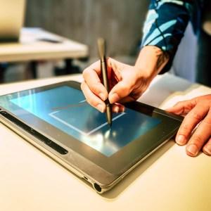 Tablette de signature électronique du pack Business