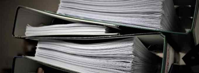 Dossiers et contrats en version papier