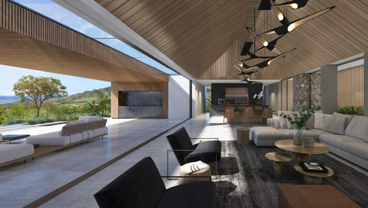 Lounge with timber roof in option- Villa Bliss