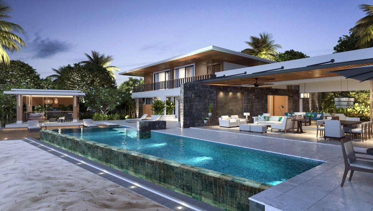 Anahita Premium Villa par MAD - Façade nuit