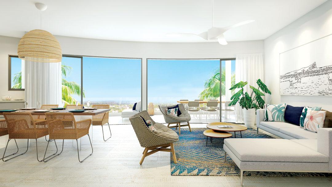 Belle architecture pour ces 4 blocs sur un terrain de 2994 m2 complexe PDS