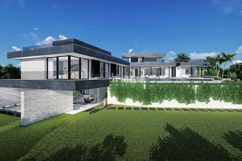 Villa sur plan de 4 chambres avec vue sur la mer sur la Costa del Sol Benahavis2