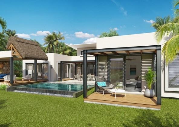 TROU AUX BICHES - Villa spacieuse située dans un village balnéaire immobilier Ile Maurice