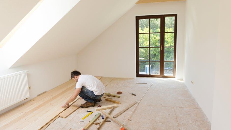 travaux dans une maison