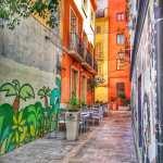 ruelle colorée dans Valence
