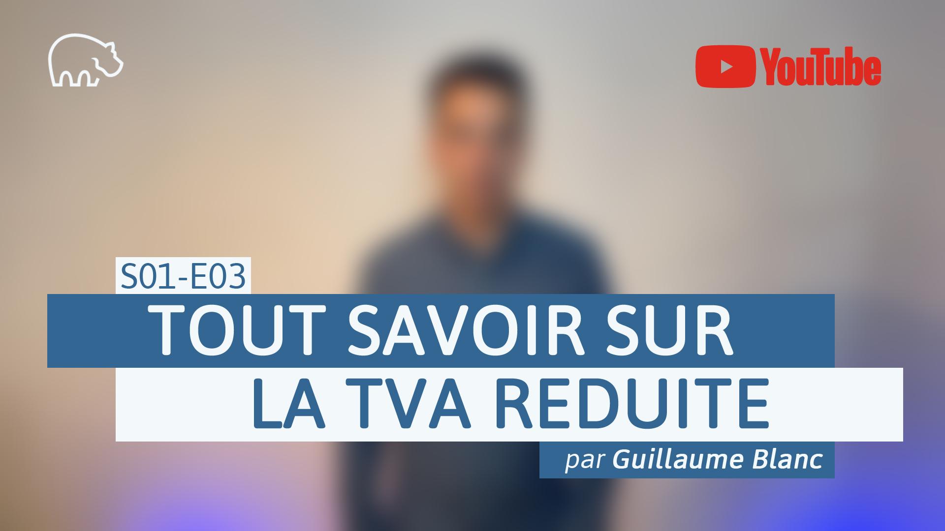 Bannière illustration - ImmoPotamTV - YouTube - Guillaume Blanc - S01-E03 - Tout savoir sur la TVA réduite