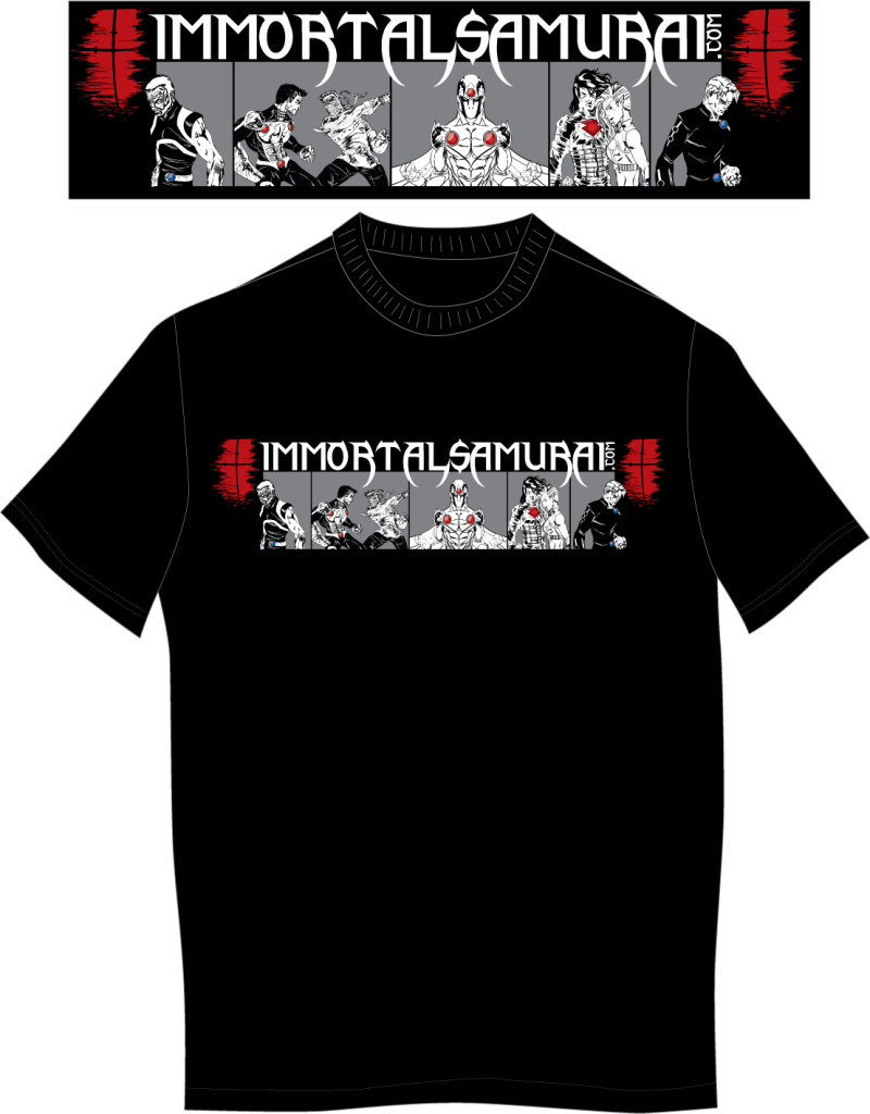 Immortal samurai t shirt