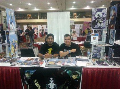 Las Vegas Expo 2013 James Stone and Vince Pizarro Immortal Samurai Comics Conquest