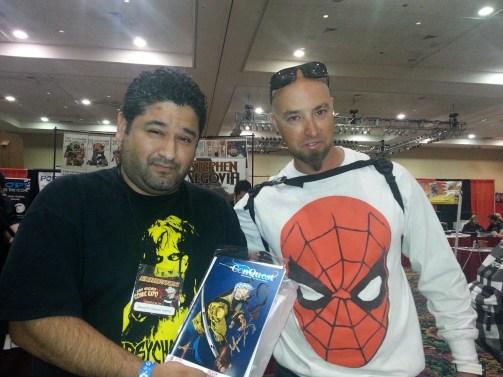 Las Vegas Expo Joseph Gonzalez and Vince Pizarro Immortal Samurai Comics Conqest