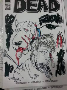 the Walking dead sketch cover by James Stone