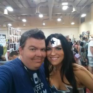 Wonder woman and James Stone Amazing Las Vegas Comic Con Immortal Samurai Comics