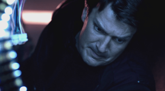 Nathan Fillion playing Jack Moore playing the Captain on Spectrum on Con man