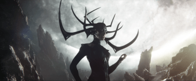 (Hela in full head gear played by Cate Blanchett)
