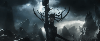 (Hela throws her sword)