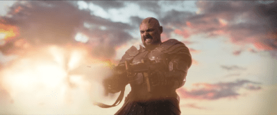 (Karl Urban as Skurge)