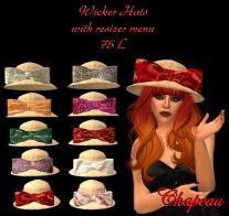 Chapeau Wicker Hats Gacha Salespic