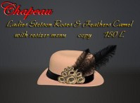 Ladies Stetson Roses & Feathers Camel