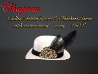 Ladies Stetson Roses & Feathers Sepia
