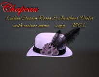 Ladies Stetson Roses & Feathers Violet