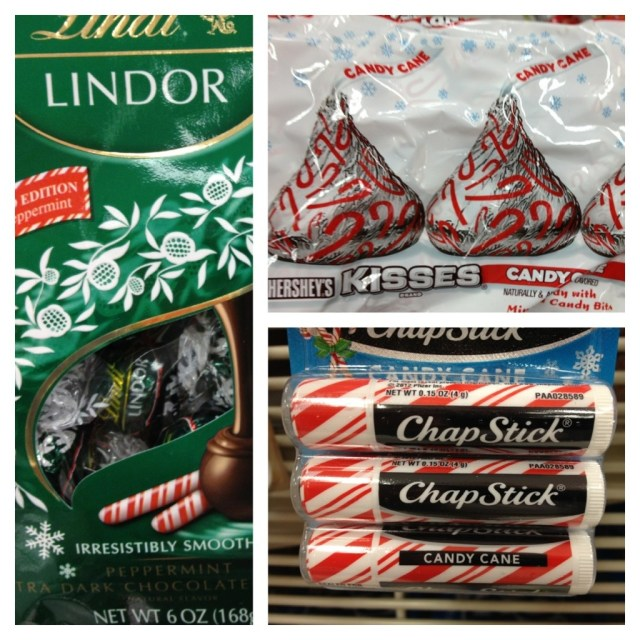 Lindor Chocolate, Candy Cane Kisses, Chapstick
