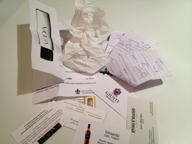 Crumpled Papers and Buisness Cards