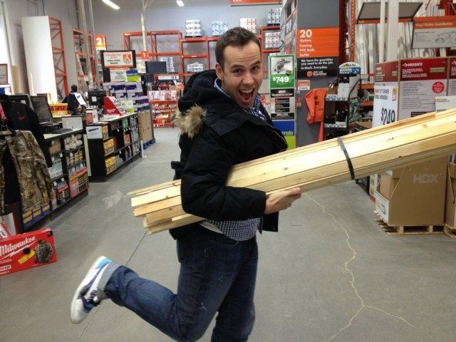 Mr Fab with Lumber for Charity