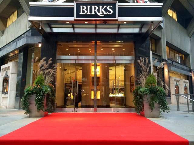 Birks store front