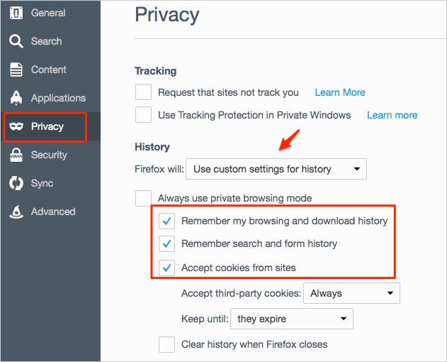 Comment autoriser / désactiver les cookies dans Firefox sur Mac