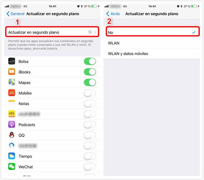 Error por la actualización de iOS 12 - La reducción de la batería es rápida