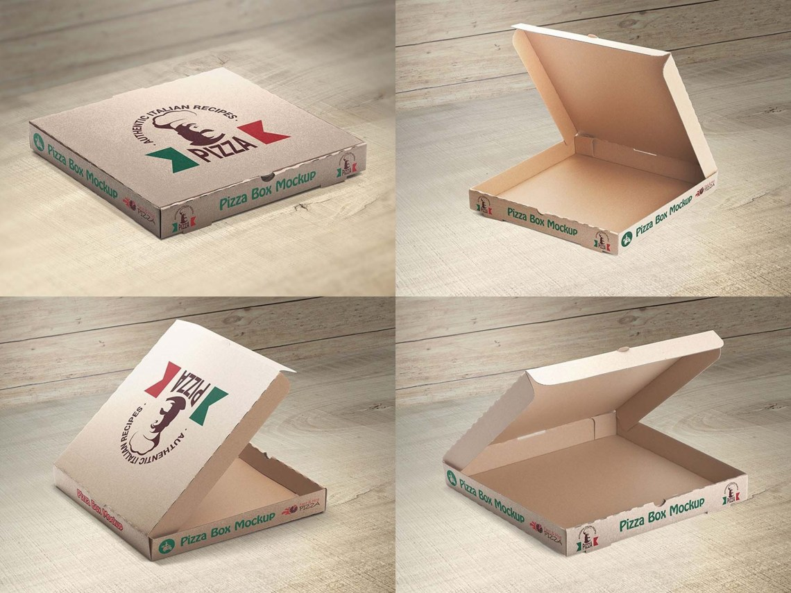 Download New Pizza Box PSD Mockup (Free) by Vectogravic