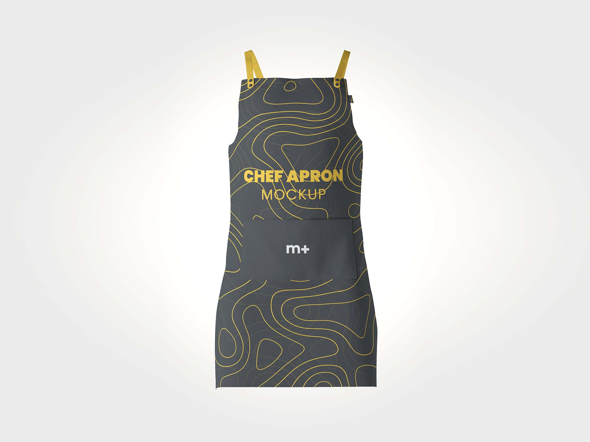 Being a cook you need to spend several hours in the kitchen and there is a high probability that you are going to spill food on your cloth and spoil your favorite clothes unless you wear an apron. Stylish Chef Kitchen Apron Psd Mockup Free By Mockup Plus