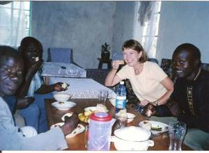 Eating ugali in Kenya