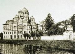 Иоанновский монастырь с часовней прп. Серафима Саровского. 1910-е гг.