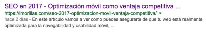 resultado de busqueda en google