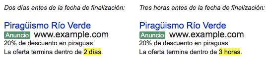 Personalizador de cuenta atrás de Google Adwords