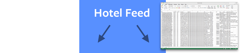 Catálogo de Hoteles o Feed de datos de hotel