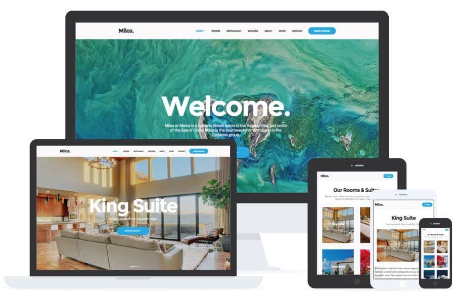 Milos - WordPress para Hoteles