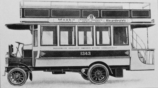 6 1907 S.A.G. Gaggenau Oberdeck-omnibus