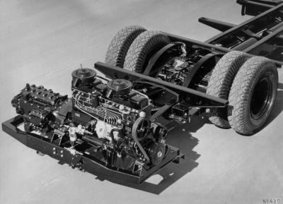 daimler o 6600 H rear mount engine