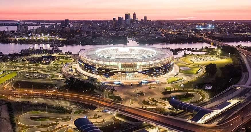 Optus Stadium Perth night