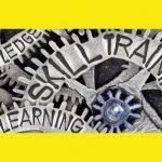 Training needs skills gaps cogs illustration