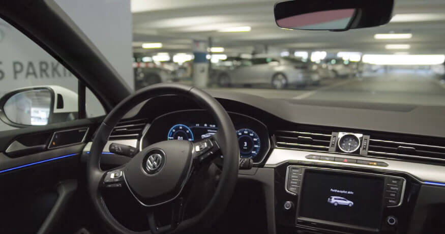 Volkswagen autonomous parking trial