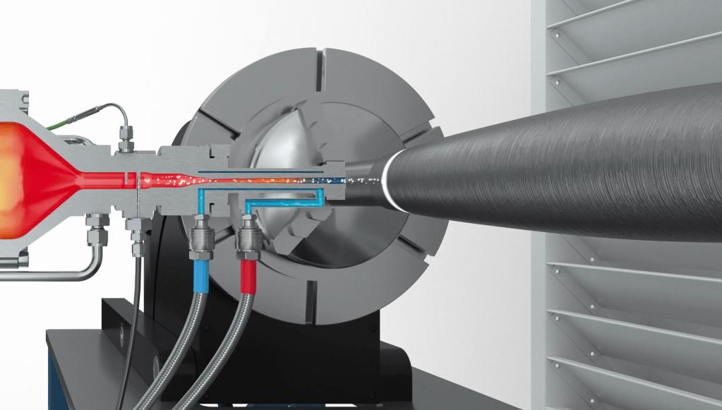 Cold spray process at Impact Innovations Kaltgasspritzen