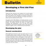 Developing a First Aid Plan PDF