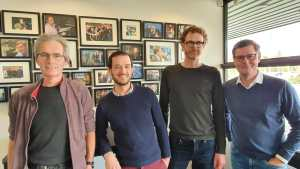 Foto van Alex Schotman, Wannes deVillé, Jelmer Pijlman en Glenn van der Burg
