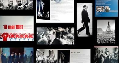 Exposition place de la Bastille pour les 40 ans de l'avènement de F. Mitterand
