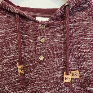 Irvin Hooded Henley (Burgundy)